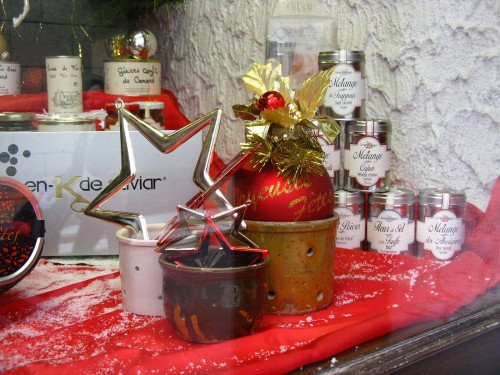 vitrines, décoration, Noël,