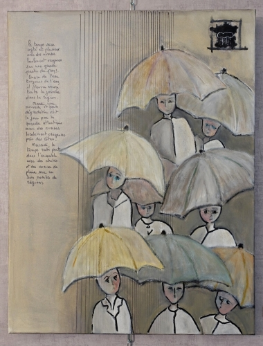 tableau, thème pluie