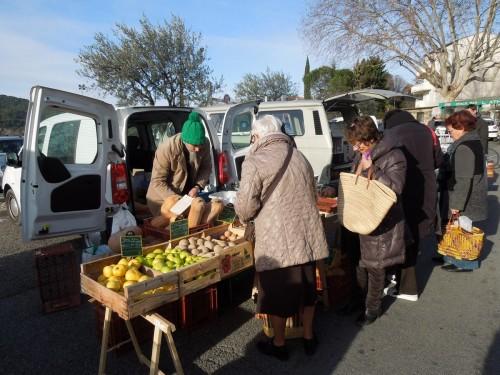 marché, hiver